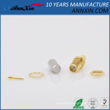 RP-SMA Female(male pin)Crimp connector bulkhead for LMR195 RG58