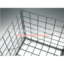 4mm galvanisé fil soudé 50x50x100cm boîte de panier de gabion avec la connexion de ressort