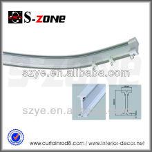 Flexible car aluminum curtain rail