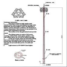 30m Drawing Design Reasonable Price LED High Mast Light