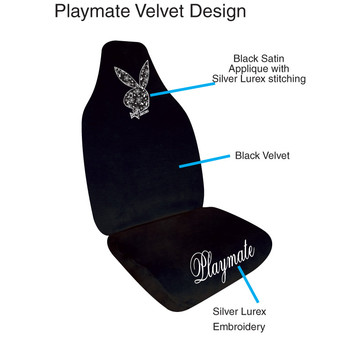 Cheap for Truck Seat Covers Black velvet with Lurex stitching Auto sear covers supply to Norfolk Island Supplier