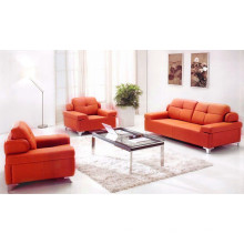 Boa qualidade de couro preço barato conjunto de sofá de escritório