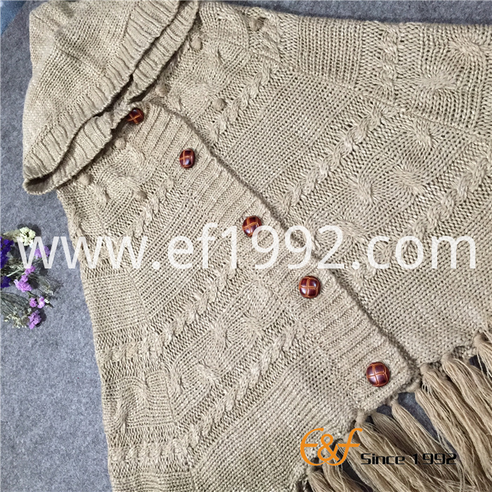 Ladies Knitting Sweater Cape