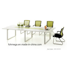 White MFC Wooden Modular Conference Room or Meeting Table