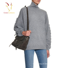 Inverno nova moda mulheres handmade suéter de lã projeta suéter de crochê