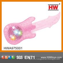 Горячая продажа пластиковых розовый музыкальный 3D-головоломка головоломка DIY игрушка Guitar