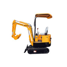 Small mini excavator digging for sale