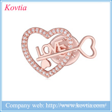 New products letter love key brooch alibaba website fashion wedding dresses 2015 rhinestone brooch