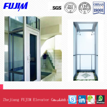 ISO9001 Glass Sightseeing Passenger Elevator Home Lift Ascenseur Villa