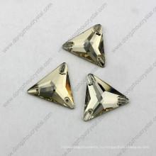 Китай Оптовая цена треугольник плоской задней шить на горный хрусталь для одежды