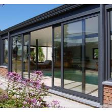 Porte coulissante en verre en aluminium moderne chaud