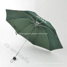 Parapluie pliant de cyan de coupe du vent 4 de mini parapluie se pliant (YS4F0007)