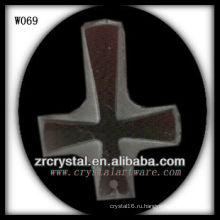 крест кристалл ожерелье W069