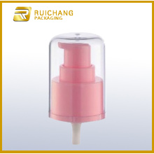 Plastic cosmetic lotion pump with AS overcap