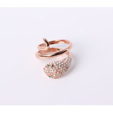Snake Design Ring with Good Quality in Rose Gold Plated