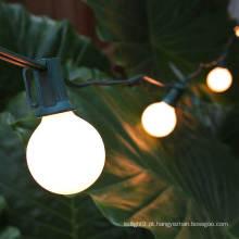 Luzes da corda do diodo emissor de luz da cor branca do globo G40
