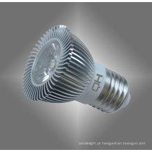 Lâmpada de LED 3W MR16 alumínio liga