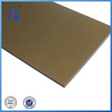 Panel de plástico compuesto de aluminio PE y PVDF