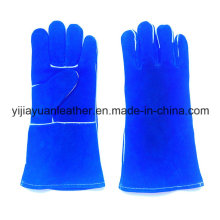 Cow Split Leather Welding Gloves with Kevlar Stitching