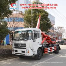 Dongfeng kingrun 10m3 carro elevador hidráulico de la basura para la venta