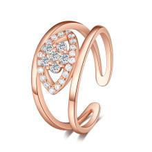Anillo clásico de la plata esterlina de la piedra preciosa de la joyería, anillo de plata noble 925