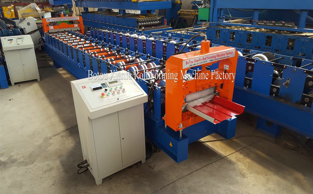 aluminum roof tile making machine