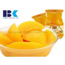 Gesundes, köstliches Dosengelb Pfirsich in Sirup