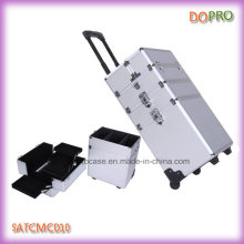 Beauty Silver Diamond ABS Professional Cosmetic Trolley Cases (SATCMC010)