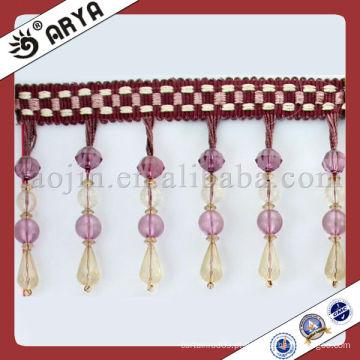 Franja de acabamento plástico para acessórios para cortinas Exportador de têxteis domésticos na China