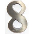 Alta calidad Rose Gold plateó la muestra de la letra del metal del acero inoxidable para hacer publicidad