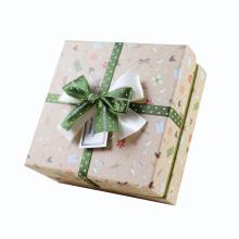 Boîte d'emballage cadeau élégant design personnalisé avec noeud