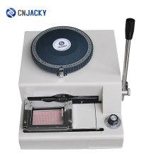 Número sequencial de impressão Embosser Machine / Plastic Card Manual Embosser Tianjin