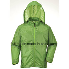 Men′s Plain Waterproof Lightweight Windbreaker