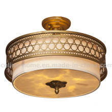 Hot Sale Iron Ceiling Light with Antique Brass Color