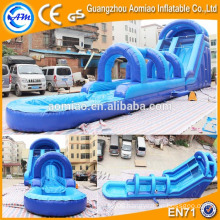 New style airtech inflatable water slip n slide 0.55mmPVC inflatable water slide for sale