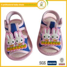 Обувь для девочек Promotion Специальное предложение Холст Tpr Bordered Hook & Loop Summer 2014 Fashion Cartoon Cute Baby Sander Shoes
