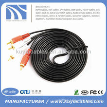 2-RCA-Stecker auf 2-Cinch-Stecker Dual-Stereo-AV-Kabel Audio-Video-Kabelkabel