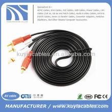 2-RCA macho a 2-RCA macho cable de audio estéreo doble cable de cable de vídeo de audio