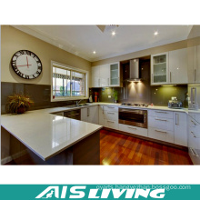 U-Shape Double Color Malemine Playwood Kitchen Cabinets Furniture (AIS-K754)