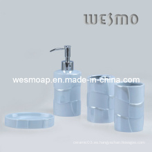 Juego de baño de porcelana de arcilla azul (WBC0470C)