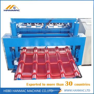 Farbige Stahlglasierte Fliesenrolle, die Maschine bildet