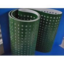 Convoyeur en PVC avec trous de perforation