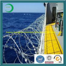 Cerca de protección de alambre de púas y alambre de púas para valla de aeropuerto