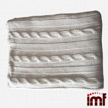 Warm Knitted Cashmere Soft Cobertura de alta qualidade