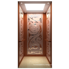 Rose titanium mirror etching stainess steel Luxury home lifts prices residential elevator