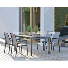 outdoor patio furniture restaurant dining sets metal frame garden chairs