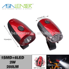 Melhor Bike Light LED, Front Bike Luz Night, Rotatable Power Bike Light Segurança