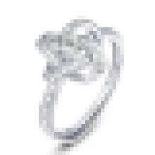 La mode des femmes 925 en argent Sterling ouverture bague incrustation cristal