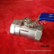 """1-Part Reduced Opening Ball Valve 1"""" CF8m 1000 Wog"""