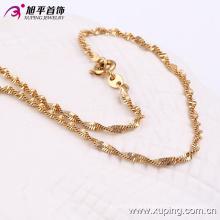 42750 venda quente moda agradável sentimento 18k banhado a ouro colar de jóias